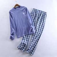 September pyjamas set cotton long sleeve men's sleepwear nightwear Manufacturer