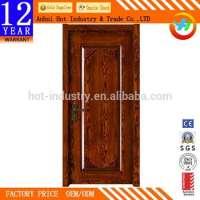 Solid Wooden Door Soundproof Fire Rated Wooden Door Can Customize Pattern Interior Door Manufacturer