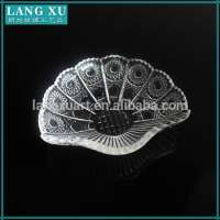 Hand pressed clear glass fruit plates serving dishes Manufacturer