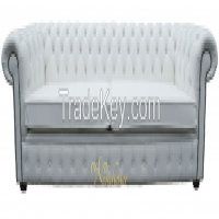 Chesterfield 4 Seater Settee White Leather Sofa Offer Manufacturer