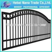 Aluminum fence sliding gate