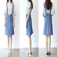 Button Mid Skirts Denim Fabric Manufacturer