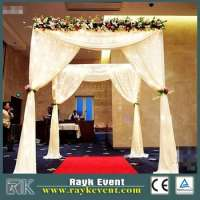 wedding glass tent  pipe and drape backdrop Manufacturer