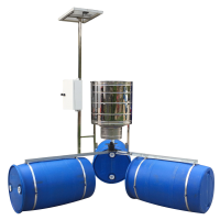 Stainless Solar Auto Feeder for Shrimp Pond Manufacturer