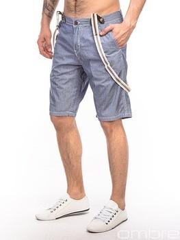 bee713420e OMBRE cotton blue bermudas shorts pockets and braces men clothing