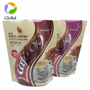 printed ziplock pouch plastic bags baby powdered milk whey protein packaging