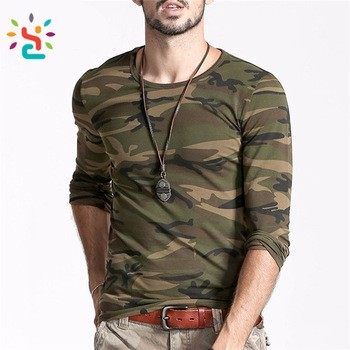 3140d603 T Shirt Men Printed Camouflage Autumn Man camoflage Camo readymade garments  market