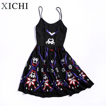 289a624db6d Woman lady suspender short dress ethnic embroidered woman lady dresses