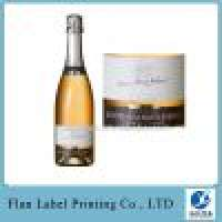 Customized Roll Stamping glass bottle Labels Manufacturer