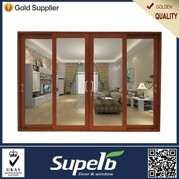 Soundproof Glass Low Security Sliding Door Double Glazing From Sun