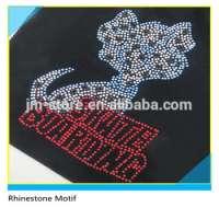Red Rhinestone Animal Garment Motif Manufacturer