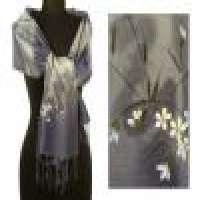 Silk shawl &039silver garden&039 Manufacturer