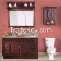 Wood Bath Vanity Wall Mounted Cabinet Customized Bathroom Furniture  Manufacturer