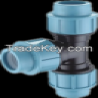 High pressure tee of PP compression fittings Manufacturer