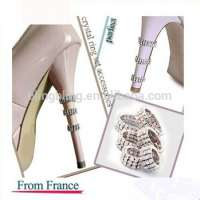Crystal Rhinestone Shoe Heel Accessories High Heel Ring Protector Manufacturer