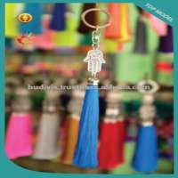 Model Trendy Art Metal And Tassel Keychain Keyring in Handmade Manufacturer