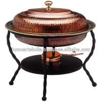 Copper cheffing dishcopper serving dishesindian copper chafing dishes Manufacturer