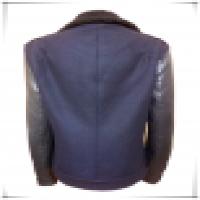 Ladies casual jacket fur collar slim women coat woolen sheep skin splicing blazer  Manufacturer