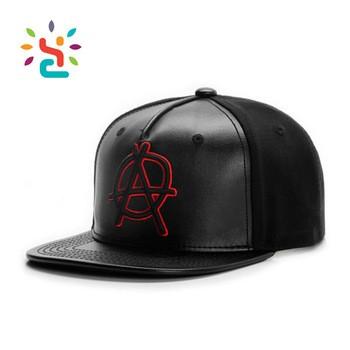 4cbd906b8c416 5 Panel Leather Flat Brim Kids Baby Infant Customized Baseball Caphats 3d  Embroidery Hat
