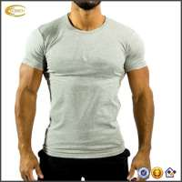 Tight Fitted Gym Print T Shirt Color Printing Men T Shirt Fitness Men Wear Manufacturer