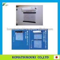 Control panel fabric air filter