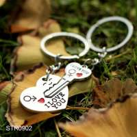 I Love You Heart Shaped Metal Key Ring Chains Manufacturer