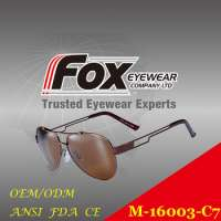 metal aviator Polarized sunglasses Manufacturer