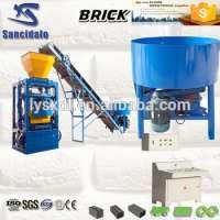 Road construction equipment block machine