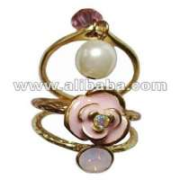Hot 3 piece oildripping rose flower Ring set Accessories Jewelry