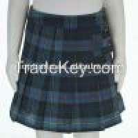 Knee length cotton school uniform plaid skirts Manufacturer