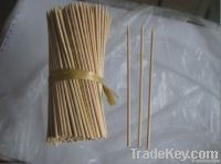 Round Disposable Bamboo Skewer BBQ stick