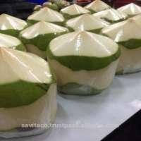 Diamond cut tender coconut