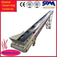 Width 800mm portable rubber belt conveyor iron ore conveyor belt Manufacturer