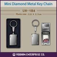 Diamond Mini Metal Photo Key Chain Manufacturer
