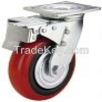 450kg load capacity Swivel pu wheel plastic wheels wheel caster Manufacturer