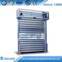 Rapid rolling security metal high speed door