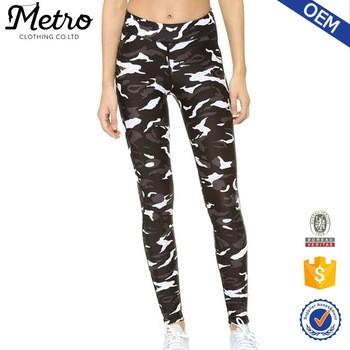 e2c4eec5ede23 Camo Leggings Hidden elastic waistband jacquard