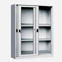 Steel Office Sliding Glass Door Cabinet