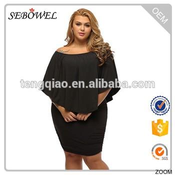 ba79563f0aa9 plus size clothing short black dress fat women