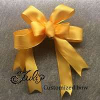 Elastic ribbon bow wedding