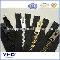 8 YKK antique brass metal zipper