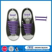 rubber shoe laces colorful flat silicone shoelacesshoe decorations no tie shoelaces kids and adults shoe laces Manufacturer