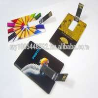 USB Pen Drive Card Type Full Color Print Customize Printing