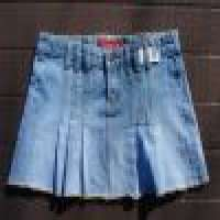 RED Denim Skirts Manufacturer