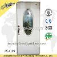 Interior used Steel panel doors decorative glass insert Manufacturer