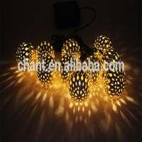 LED metal ball solar garden light
