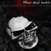 BU12-001 Mens Skull Belt Buckle
