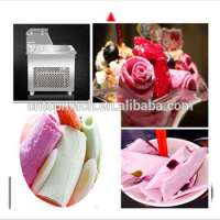 Fried fruit ice Thai ice cream roll Double double pressure five barrels fried ice cream roll machine Manufacturer