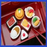 Kids 3D cakefruitlollipopice creambiscuit rubber eraser