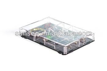 Lastest design acrylic jewelry display stand flat packing EMOJ4311